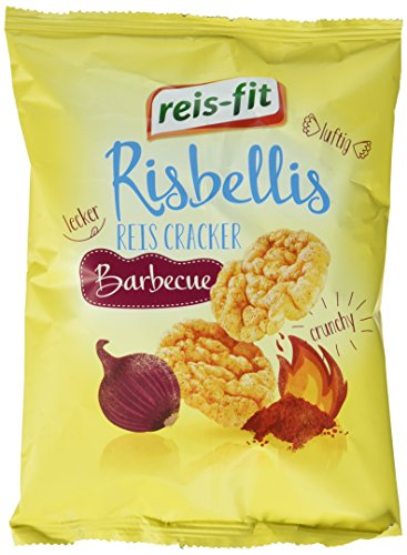 reis-fit Risbellis Reis Cracker Barbecue , 4er Pack (4 x 40 g)