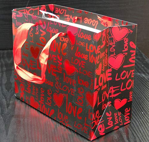 Carta Spessa 18 cm x 23 cm x 10 cm Confezione Risparmio 210 g // m2 Assortito 12 Un Sacchetti Regalo Bagland,Premium H San Valentino