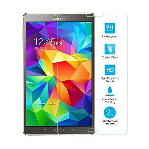Alienwork Displayschutzfolie für Samsung Galaxy Tab S 8.4 gehärtetem Glas 0,26 mm Schutzfolie Anti-Kratz Super-Härte Glas Transparent SPSTS84-01