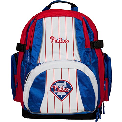 MLB Philadelphia Phillies Trooper Backpack, Red by Concept One Accessories