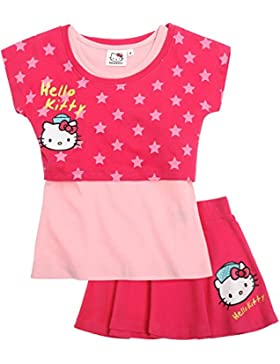 Hello Kitty Ragazze T-shirt e gonna - rosa fucsia