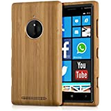 kwmobile Hülle für Nokia Lumia 830 - Bambusholz Case Handy Schutzhülle - Hardcase Cover Hellbraun