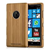kwmobile Nokia Lumia 830 Cover bambù - Custodia in Bamboo Naturale - Case Rigida Backcover per Nokia Lumia 830