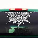 CELYCASY - Autocollant Mandala pour Voiture - Demi-Cercle - Demi-Lune Mandala - Yoga Boho Fleur - Autocollant de Voiture pour Homme Femme - H4