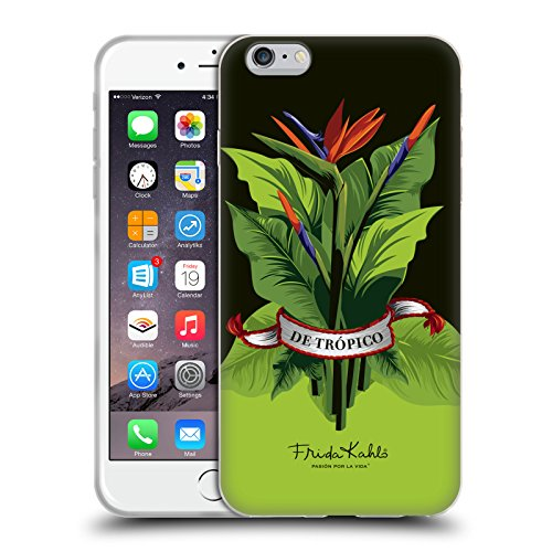Ufficiale Frida Kahlo Monkey Tropicale Cover Morbida In Gel Per Apple iPhone 6 / 6s Nostri