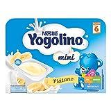 Nestlé Yogolino Postre lácteo Mini con Plátano Para bebés a partir de 6 meses - Paquete de 6 tarrinas de  postre lácteo de 60 gr