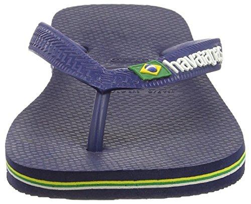 Havaianas Brasil Logo, Tongs Mixte Adulte BLEU NAVAL