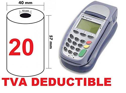 20 Thermorollen 57mm x 18m x 12mm [Ø 40mm] für EC-Cash - Thermopapier Kassenrollen -Thermo-Bonrollen
