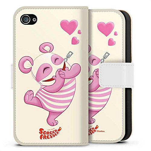 Apple iPhone X Silikon Hülle Case Schutzhülle Sorgenfresser Betti Fanartikel Merchandise Sideflip Tasche weiß