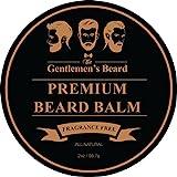 The Gentlemen's Beard Baume Pour Barbe Premium – 60 ml – Domptez Votre Barbe Sans La Rendre Graisseuse – Donnez-Lui Un Aspect Plus Épais Et Plus Fourni – Sans Parfum
