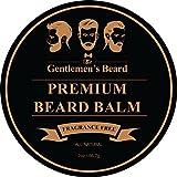 The Gentlemen's Beard Premium-Bartbalsam - Knapp 60 ml - Bändigen Sie Ihren Bart Ohne Fettigkeit - Für Eine Dichtere Und Vollere Erscheinung - Parfümfrei