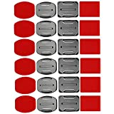 Cikuso Kit di Accessori per Casco Set di Supporti per Superfici 12x + 12 Adesivi Adesivi Adesivi per Gopro Hero 7/6/5/4/3 + / 3 Hero Session Sj4000 Sj5000 Action Camera