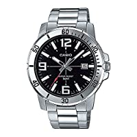 Casio Stainless Steel Silver Dress Watch For Men - MTP-VD01D-1BVUDF