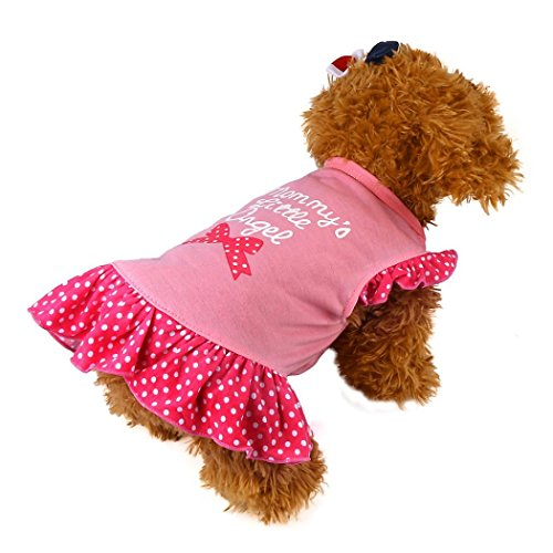 Komisch Hund Kleidung Bovake 2017 Neue Nettes Haustier-Welpen-kleines Hundekatze-Haustier-Kleid-Kleid-Kleid-Fliegen-Hülsen-Kleid (L, Pink)