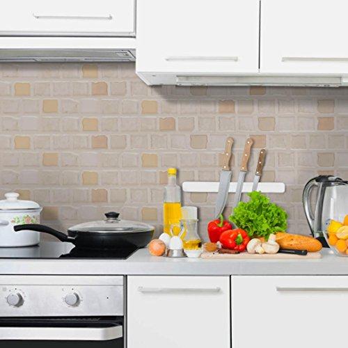 OHQ Fliesenaufkleber Küche Bad dekorieren PVC Fliesen überkleben Fliesen Folie für Küchenrückwand Wandtattoo abwaschbar cmeuropäischer Stil Eine rolle (B)