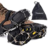 Nuonove Crampon pour Chaussure, Crampon à Neige, Crampon Antiderapant,19 Dents Crampons de Glace, Antidérapant Grips Crampons...
