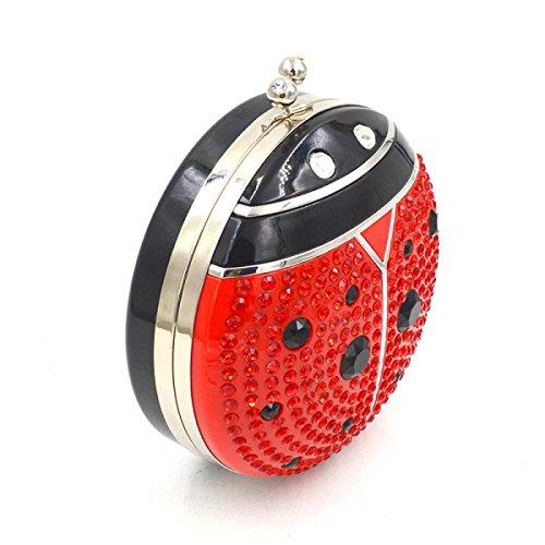 STRAWBERRYER Personnalité De La Mode Banquet Embrayage épaule Mesdames Européen Et Américain Parti Acrylique Diamant Sac De Bal red