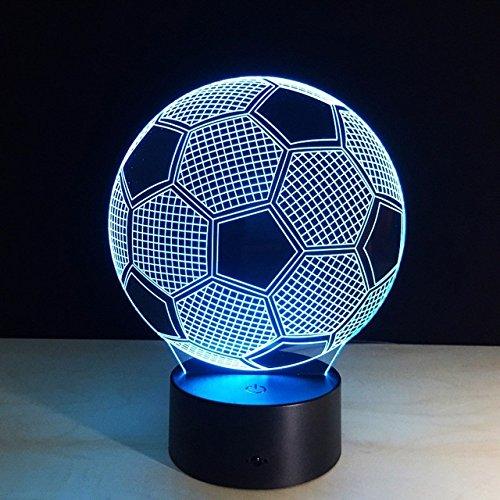 Magische 3D Fußball optische Visualisierung Illusion 7 Farben ändern USB Touch Schalter Tischlampe bulbing LED Licht Nachtbeleuchtung