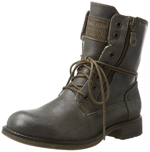 Mustang Damen 1139-629-20 Stiefel, Grau (Dunkelgrau), 40 EU