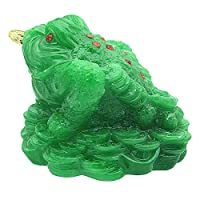 Feng Shui Money Frog/Three Legged Toad Statue Decoration for Wealth