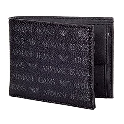 Logo Wallet in Black by Armani Jeans AJM5173