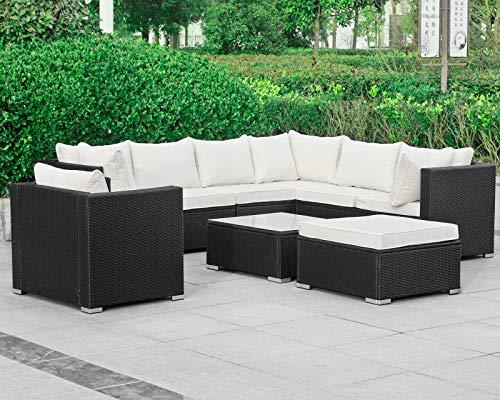 Hansson Polyrattan Lounge Sitzgruppe Gartenmöbel Garnitur Poly Rattan 7 Sitzplätze kaufen  Bild 1*