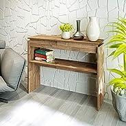 Artely Creta Console Table, Rustic Brown - W 100 cm x D 30 cm x H 78.5 cm