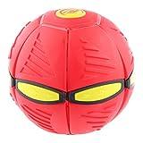 Juguetes Juegos Pelota Bola Mágica Volador OVNI Disco Novedad Aire Libre PVC - Roja