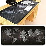 zooarts Weltkarte Verlängerte Gaming Mauspad Größe 900x 400mm Schreibtisch Tastatur Matte mit genähte Kanten rutschfeste Gummi Unterseite Mauspad für Computer Desktop PC Laptop