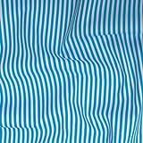 Baumwollstoff Streifen - 140 cm breit - Weiss-Türkis