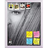 ArtzFolio Woman Face Undergoes A Transformation In Wood Printed Bulletin Board Notice Pin Board cum White Framed Painting 12 x 15.4inch