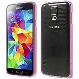 Ultra Slim Aluminium Alu Bumper für Samsung Galaxy S5 SM-G900F von Probagz® (rosa)