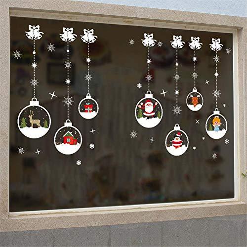 Pegatinas pared bola cristal Navidad se regocijan