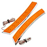 #10: SODIAL(R) 2x Car Wheel Eyebrow Side Marker Adhesive 18 LED Turn Signal Light Orange