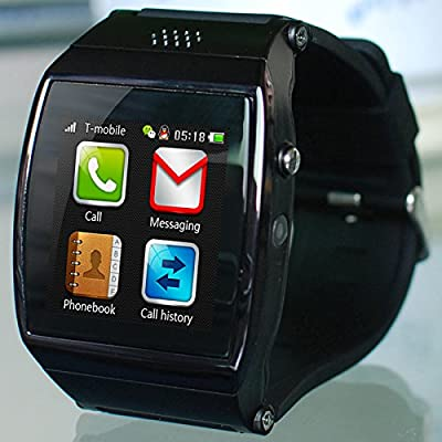 0.96 pulgadas 128*64 Screen Smartwatch ARM7 4MB/4MB 250mAh Bluetooth Smartphone Multi Color smartreloj reloj para hombre (color:negro)