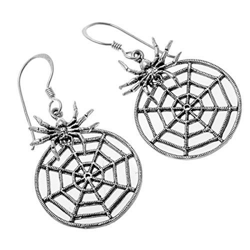 loveangel Schmuck 925Sterling Silber Flower Kostüm Drop Baumeln Ohrring Geschenk für (Frau Kostüm Web)