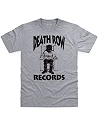 Official Death Row Records Logo Black T-shirt, Pour homme