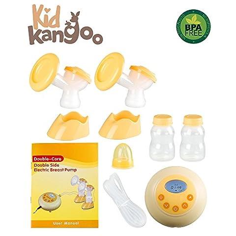 Double tire-lait électrique pour stimuler l'allaitement maternel. Le tire-lait est doté d'un micro-ordinateur intelligent pour garantir sa fiabilité et un réglage équilibré, ainsi que d'une fonction de massage.(PACK 2)