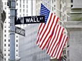 Posterlounge Alu Dibond 130 x 100 cm: Wall Street in New York City, USA di Jan Christopher Becke