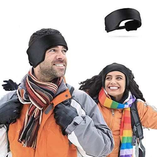 Hommie Weicheste Ohrwärmer Stirnbänder Unisex Headbands Stirnband für Herren & Damen Einstellbar Winddicht Ohrenschützer Dicke Winter Sport Stirnband für Laufen Reiten Klettern Skifahren Abenteue