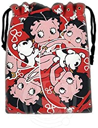 Light Yellow : New Arrive Betty Boop Drawstring Bags Custom Storage Bags Storage Printed Receive Bag Compression...