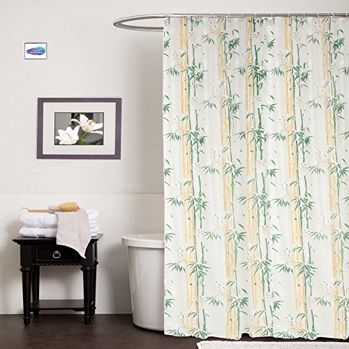 Clasiko Polyster Bath Shower Bathroom Curtain With 8 Hooks 54x78 Inches 45x7 Feet