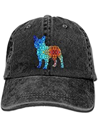 e1b4ad33e2525 For The Love of French Bulldogs Adult Sport Adjustable Baseball Cap Cowboy