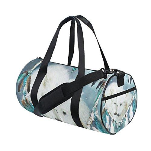 jstel Atrapasueños lobo bolsa de deporte gimnasio para hombres y mujeres bolsa de viaje de viaje