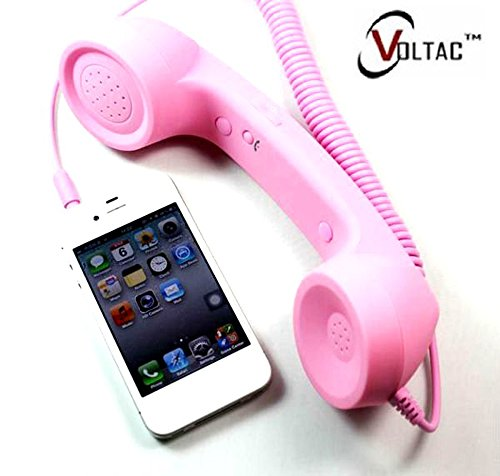 VOLTAC` ™ COCO Phone Retro Radiation Protection Wired Receiver with 3.5mm Jack for Mobiles & Tablet Pattern #196365