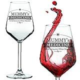 Weinglas, Aufschrift: Mummy's / Daddy's Medicine (in englischer Sprache) Rotwein- / Weißweinglas in einer Geschenkbox, glas, farblos, Mummy's Medicine Wine Glass