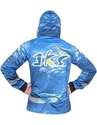 JKS SunBlock UPF 50 Dri Fit Camisas de pesca de secado rápido Regla en Forearm Unisex T-shirt
