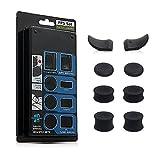 CHIN FAI L2 R2 Bottoni sostitutivi Trigger Grips Extender, 3 Paia Joystick Antiscivolo Thumbstick Caps Cover per Controller Playstation 4 PS4 JDM-030, Nero