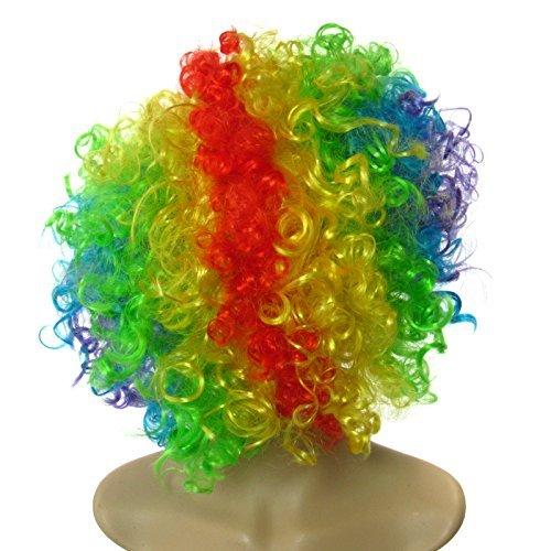 Rainbow Clown Perücke Funny Top Qualität Afro Kostüm Full Head Perücke