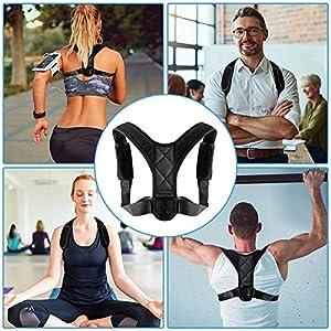 EisEyen Herren Damen Posture Corrector Haltungstrainer Haltungskorrektur Geradehalter Schulter Rücken Haltungsgurt Haltungsbandage Verstellbare Rückenbandage Gepolsterte Gurte